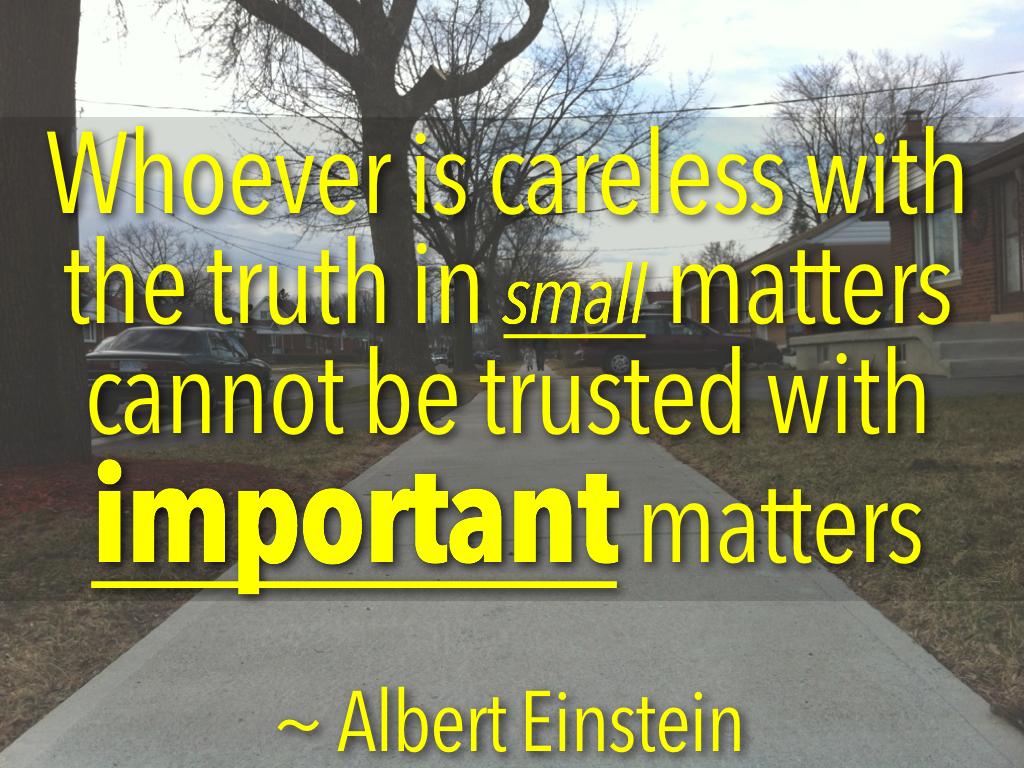 Small Important Einstein quote Paul Jolicoeur