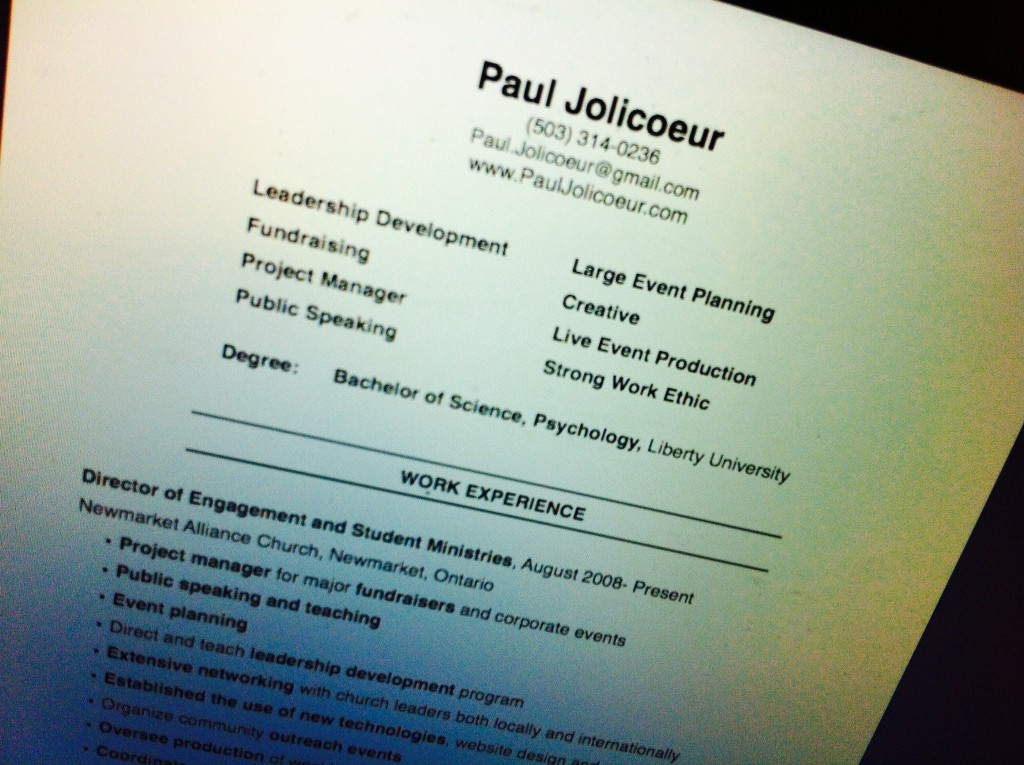 Paul Resume Pic